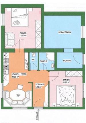 Appartmenthaus Flattach Zimmeransicht